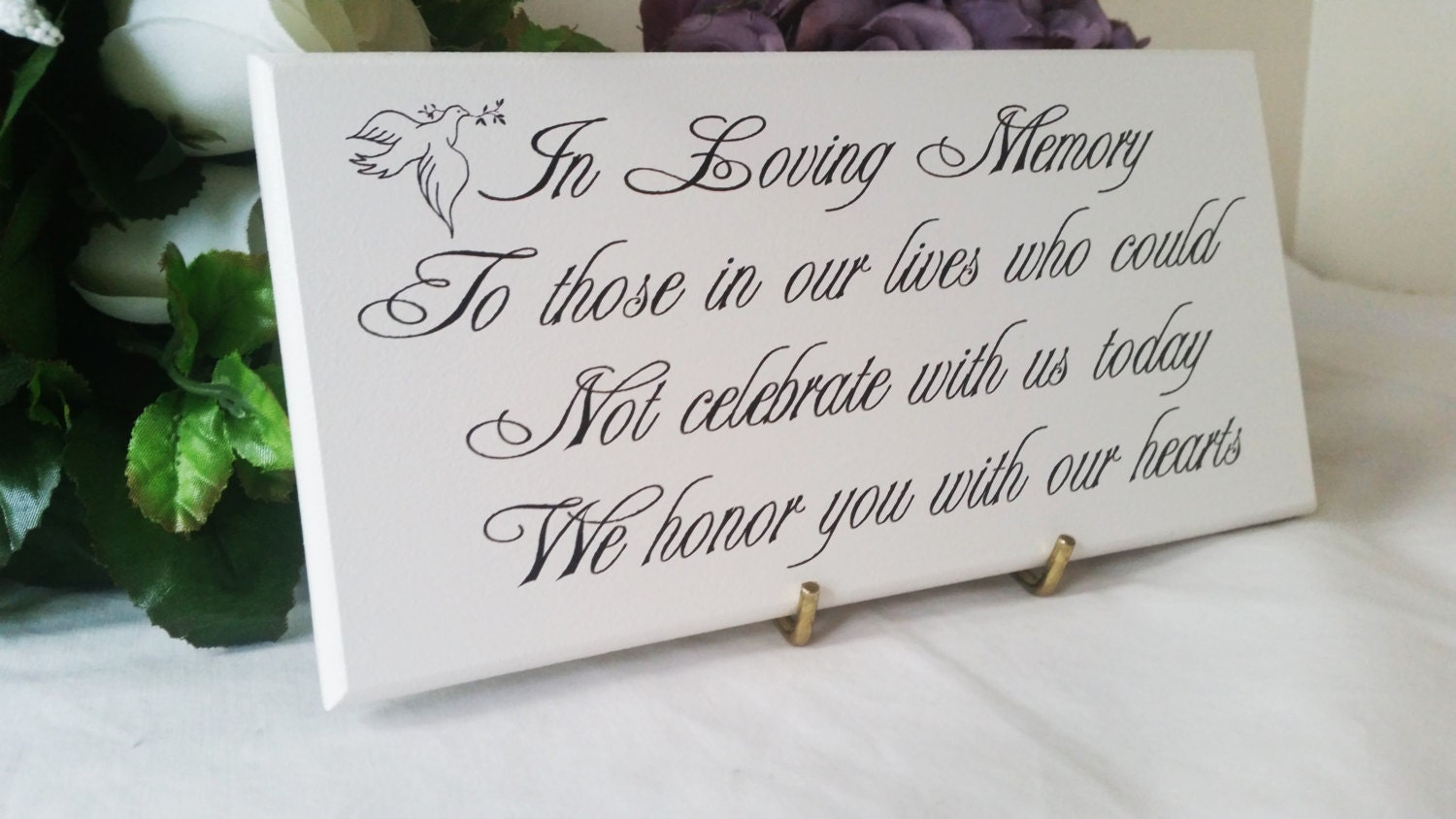 Wedding Memorial Sign In Loving Memory To Those Who Could
