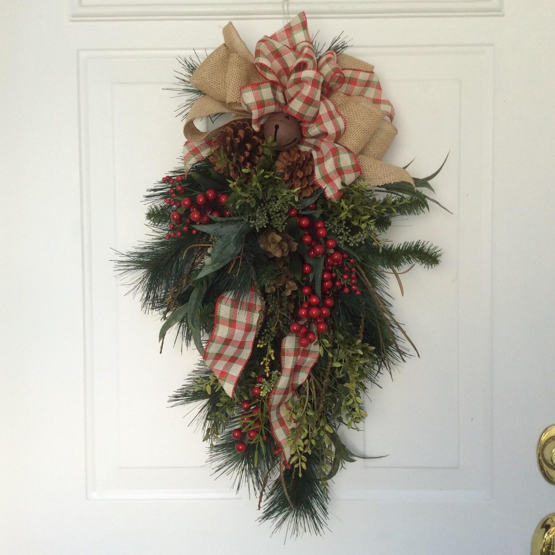 Christmas swag wreath rustic by reginasgarden on
