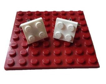 Genuine LEGO® 2 x 2 Plate Cuff Links.  Building Brick Cufflinks.