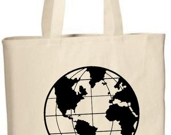 Globe beach bag etsy tote bag globe tote bag party favors gift bags world map gumiabroncs Images