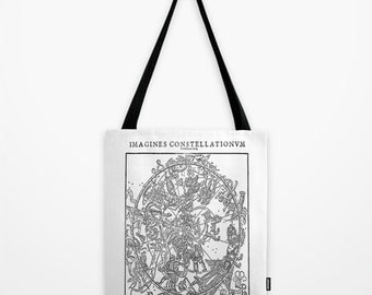 Constellation Map Tote Bag - Zodiac Chart Tote Bag -  Book Bag - Eco-friendly Bag - Shopping Bag - Graphic Tote