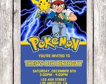 Pokemon Invitation - Pokemon Birthday Party - DIY Printable