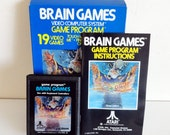 Vintage Atari 2600 Brain Games CX26664 with Box and Manual