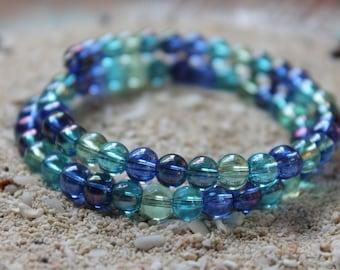 Glass Bead Wrap Bracelet