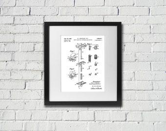 1960 Gillette Fat Boy Prototype Patent Print