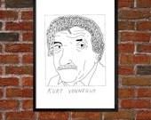 Badly Drawn Kurt Vonnegut - Literary Poster