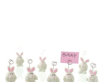 10 Handmade Cold Porcelain Bunny Place Card Holders