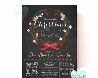 Holiday Party Invitation - Christmas Party Invitation - Christmas Invite - Printable Holiday Invitation - Printable No.518