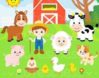 ... Animal Farm Clipart, Animal Farm Clip Art, Animal Farm Clipart on Etsy