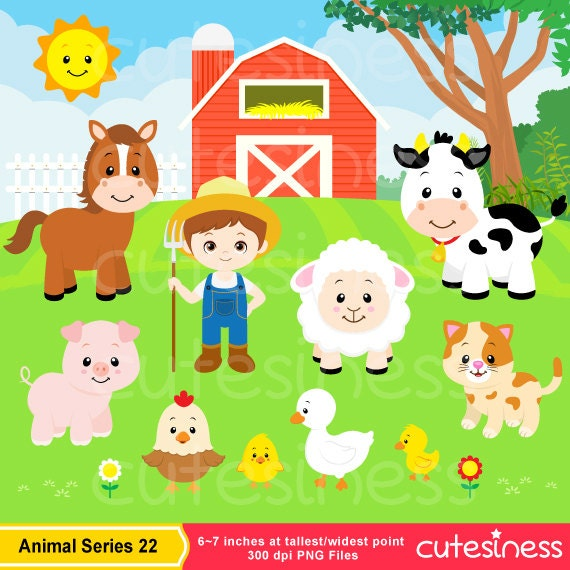 Farm Animal Clipart Farm Clipart Farm Digital Clipart farm