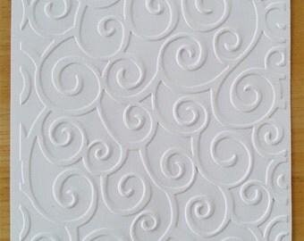 Embossed Card Stock Sheets or Cards/Envelopes -D'vine Swirl