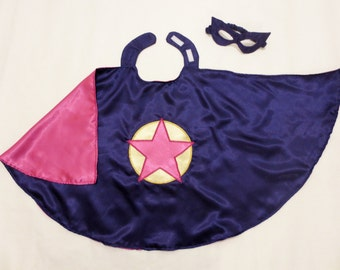 Small Child / Toddler Satin Superhero Cape with Mask