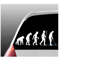 Evolution of a Golfer Car Window Decal