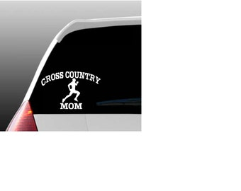 Cross Country Mom, Dad or Grandparent Car Window Decal