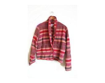 Plus Size Southwest Boho Women's Clothing Vintage Blanket Coat Plus Size