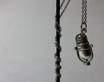 Microphone Necklace On An 18 Inch Stainless Steel Chain