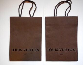 "Set of 2 LV Louis Vuitton Shopping Bags. 8""x11"""
