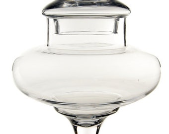 Glass Apothecary Jar Candy Buffet Containers with Height 10 inches. #GAJ108/10, Wholesale Pack of 6 pcs