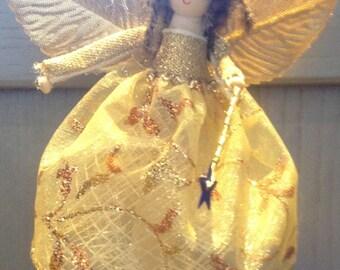Sparkling Gold Christmas Fairies