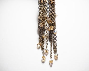 Long earrings Chains - Swarovski