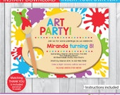art party printable / art party invitation / kids art party invitation / Printable Art Party Invitation / Art Party Invite / INSTANT