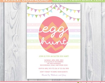 Easter egg hunt invitation / egg hunt invitation / Easter egg hunt invite / Easter Egg Hunt Printable / Egg hunt invite / INSTANT DOWNLOAD