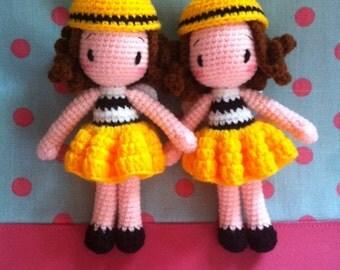 Amigurumi Bee Girl : Sweet Couple Amigurumi Bride & Groom Crochet Doll by ...