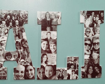 Wooden Letter Picture Collage (3 letter listing)