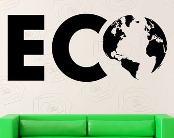 Wall Stickers Vinyl Decal Eco Environmental Earth Ecology Nature Life (ig2306)