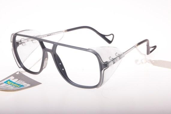 Kevlar Eyeglass Frames : Essilor France Kevlar steampunk side by SpecsTacularVintage