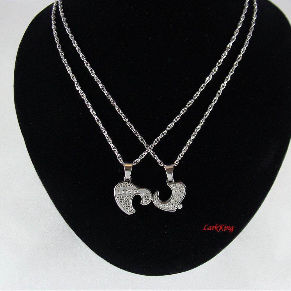 heart necklace for couples - photo #1