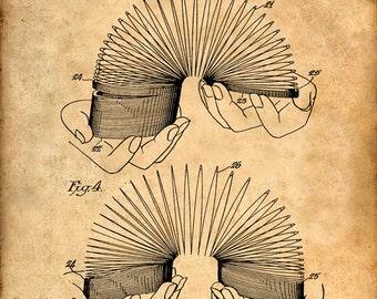 Patent Print of a Slinky Patent Art Print Patent Poster