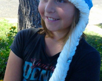 Frozen Inspired Crochet Elsa Hat, Cochet Elsa Frozen Hat