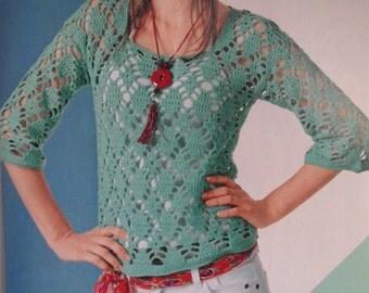 Handmade crochet top tunic jumper women crochet clothes MADE TO ORDER