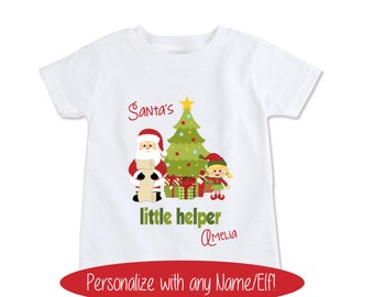 Kids Christmas Shirt, Christmas Elf, Kids Christmas Gifts, Christmas Kids, Gifts for Kids, Personalized Kids, Christmas Shirt Outfit (137)