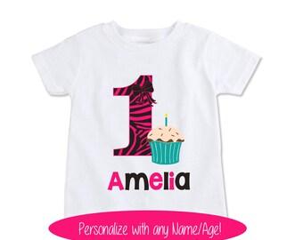 Girls Birthday shirt, cupcake birthday shirt, cupcake onesie, cupcake birthday party cupcake birthday outfit cupcake birthday theme (EX 231)