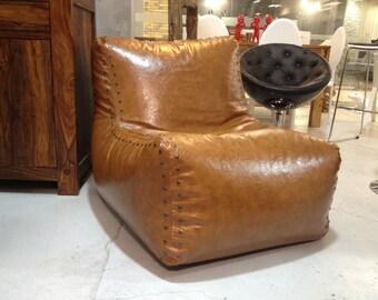 Bean bag chairs / Bag-chair Aviator / Bean bag cover - genuine Leather Bean Bag Chair