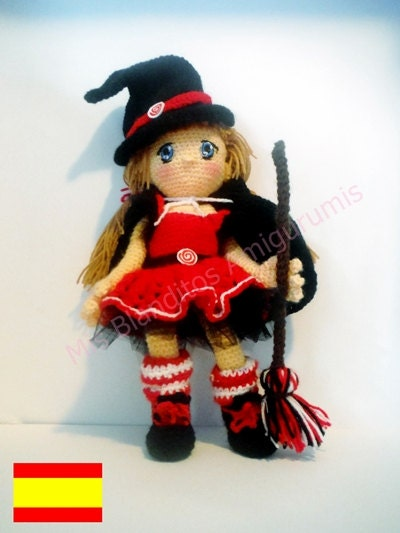 crochet PATTERN amigurumi doll witch. PDF Not included Doll