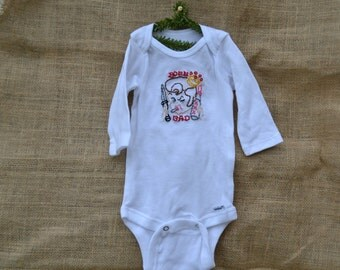 Born Bad Hand Embroidered Onesie