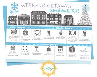 Printable itinerary for a weekend getaway couples getaway for Day trip to nyc with kids