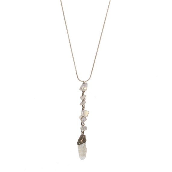 Dalla Quartz Crystal Healing Y-Necklace - Boho Necklace, Yoga Necklace