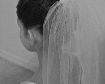 First Holy Communion Veil With Bun Wrap - Flower Girl Veil