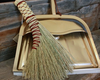 Handmade Turkey-Wing Whisk Broom