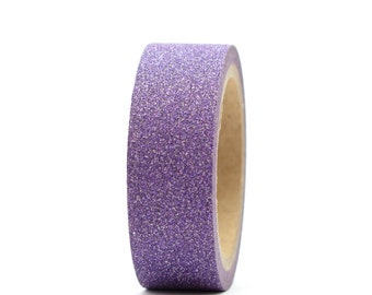 Glitter Tape Purple Washi 15mm x 5m