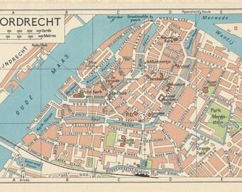 1961 Dordrecht Netherlands (Holland) Vintage Map