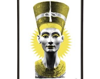 Ancient Egypt Queen Nefertiti Pop Art Print