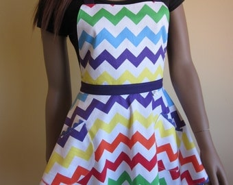 Australian made Flirty 'Chevron' Apron