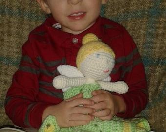 crochet fairy lovey blanket