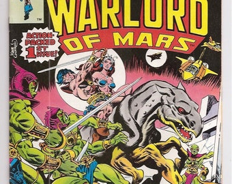 John Carter Warlord of Mars 1 VF+  Marvel Comics Books Bronze Age June 1977 1st Key Issue 1970s Christmas Anniversary Gifts for Him Her