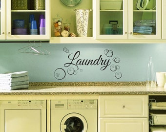 Laundry Room Wall Decal - Custom Wall Decal for Laundry Room, Wall Decor